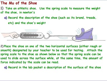 Physics - Friction Experiment  w/ worksheet (The Mu of the