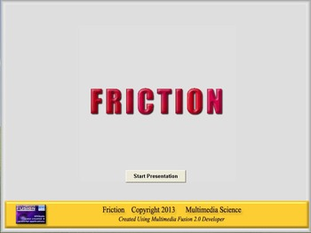 Physics - Friction Software and Handouts Bundle - PC Version