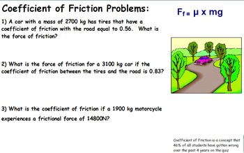 Physics - Friction w/worksheet (POWERPOINT)