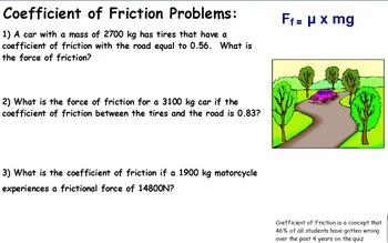 Physics - Friction w/worksheet (SMART BOARD)