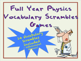 Physics Full Year Vocabulary Scrambles Puzzles-14 Sets
