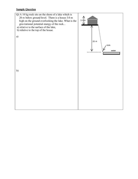 Physics: Gravitational Potential Energy - Lesson and Key