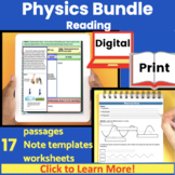 Physics Guided Reading Bundle | Expository Text | Distance