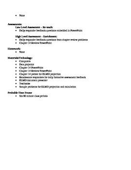 Physics - Heat Block Schedule Lesson Plan