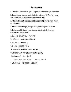 Physics Homework #7  Newton's Laws
