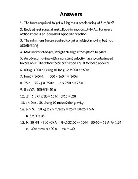 Physics Homework #8 Newton's Laws Coefficient of Friction