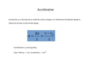 Physics - Important Concepts Quick Review Presentation/Handout