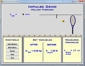 Physics - Impulse & Momentum Demos - PC Version