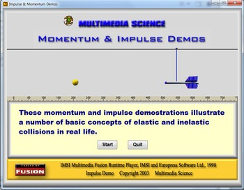 Physics - Impulse & Momentum Demos - PC & MAC Flash Version