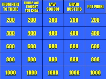 Physics Jeopardy AND Double Jeopardy