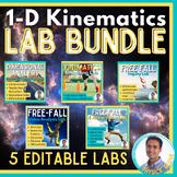 Physics: Kinematics Lab Bundle (One-Dimensional)