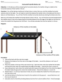 Physics marble projectile lab, Independence of horizontal and vertical motion AP