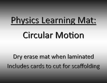 Physics Learning Mat: Circular Motion