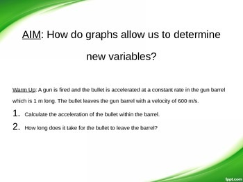 Physics: Linear Motion Graphs