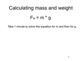 Physics - Mass and Weight (complete lesson)