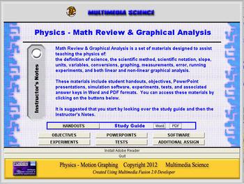 Physics - Math Review & Graphical Analysis Unit - Click & Teach Bundle