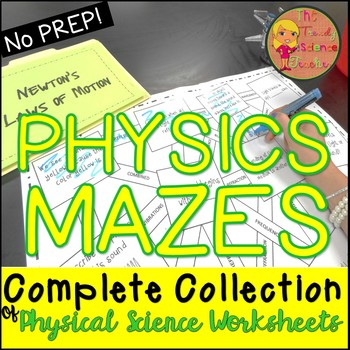 Physics Maze Worksheet BUNDLE (for Physical Science)