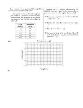 Physics - Measurement and Graphing Quiz