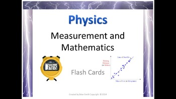 Physics Measurement and Mathematics Flash Cards