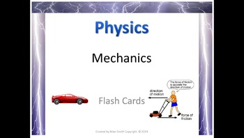 Physics Mechanics Flash Cards