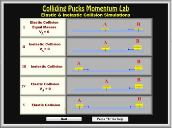 Physics - Momentum - Colliding Pucks Lab