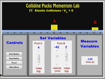 Physics - Momentum - Colliding Pucks Lab - PC & MAC Flash Version