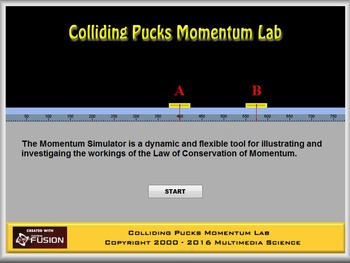 Physics - Momentum - Colliding Pucks Lab - PC & MAC Flash Version