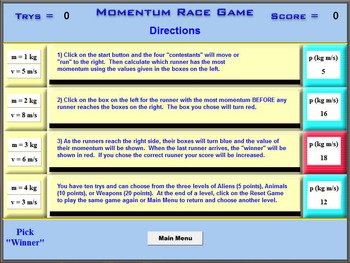 Physics - Momentum Race Game - PC Version