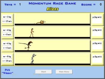 Physics - Momentum Race Game - PC Version