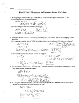Physics: Momentum and Impulse review, Test and Re-Test Package