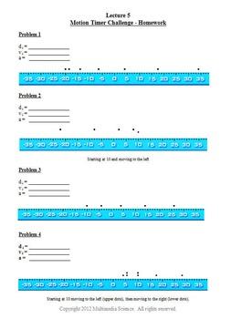 Physics Motion Graphs Unit - Click & Teach Bundle