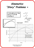 Physics Motion 'Story' Problems (Kinetics) +