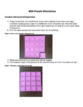 Physics: Motion Vocabulary Puzzle (Challenging)