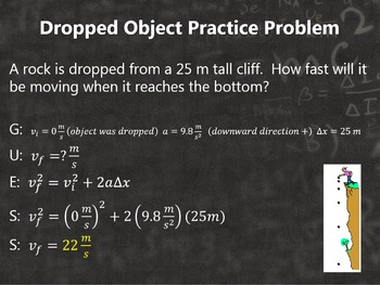 Physics Motion in One Dimension: Free Fall PowerPoint