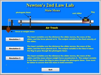 Physics - Newton's 2nd Law Lab