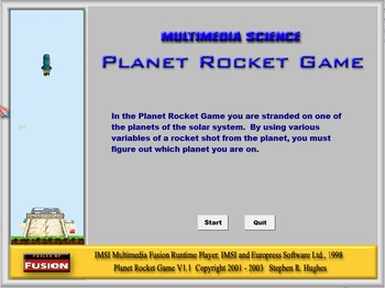 Physics - Newtons 2nd Law - Planet Rocket Game Software  - PC and MAC Version