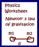 Physics Newton's Law of Gravitation Worksheet