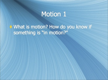 Physics Notes: Motion