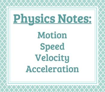 Physics Notes: Motion