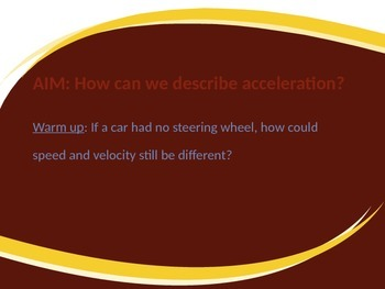 Physics: Powerpoint Acceleration