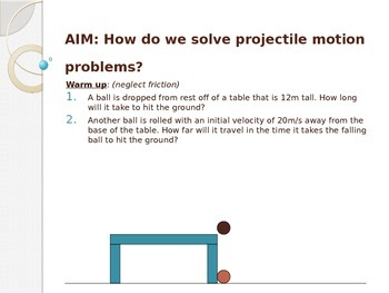 Physics: Powerpoint Horizontal Projectile Motion