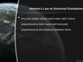 Physics: Powerpoint Universal Gravity