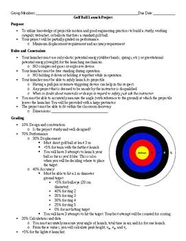 Physics Project - Golf Ball Launch (Catapult, Trebuchet, Ballista)