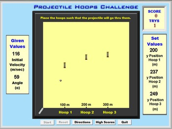 Physics - Projectile Hoops & Lab - PC & MAC Flash Version