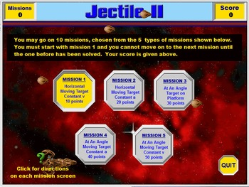 Physics - Projectile Motion - Jectile II Game - PC & MAC Flash Version