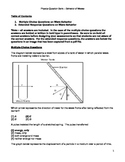 High School Physics Question Bank - Wave Behavior