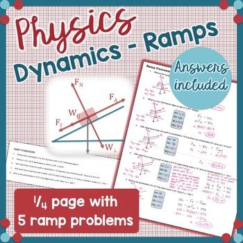 Physics Ramp Homework - Dynamics Problems