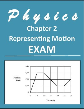 """HS Physics-Exam 2 """"Representing Motion"""" with Answer Key and Solutions"""