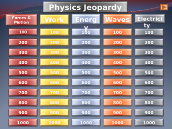 Physics Review Jeopardy