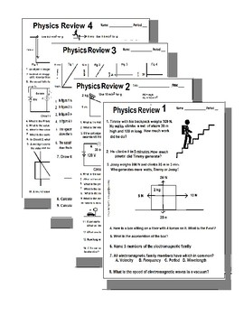 Intro to Physics Review (Bundled for a Discount of 30% OFF) Test A